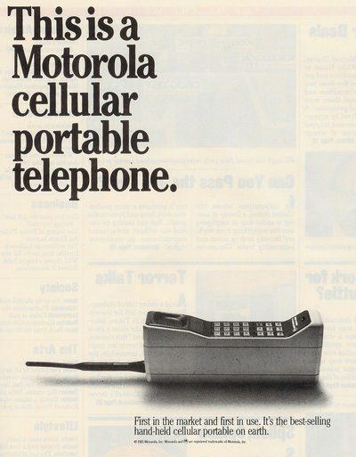 Motorola cellular portable telephone 1983