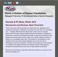 PC410 News Winter 2015