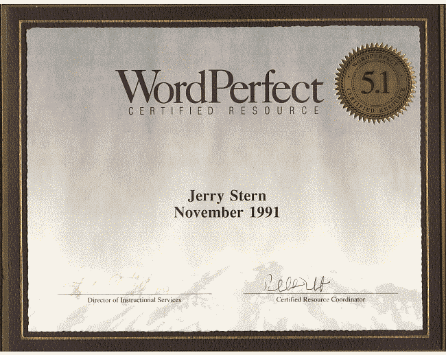 WordPerfect Certified Resource