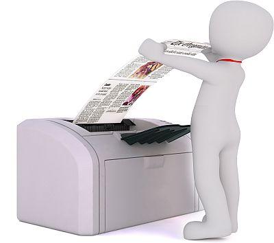 Printer and printout